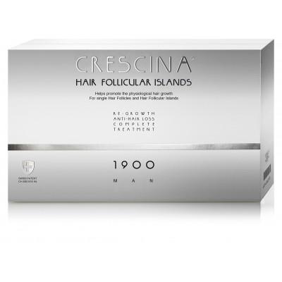 """Crescina Набор 1900 для мужчин Лосьон """"Усиленная формула"""" 3.5 №20 штук+20 штук  против выпадения волос"""