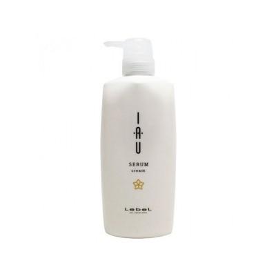Lebel IAU Serum Cream Крем для поврежденных волос, антистатический эффект, подходит для натуральных и детских волос 600 мл