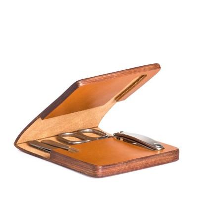 Muehle Маникюрный набор в чехле из натуральной коричневой кожи