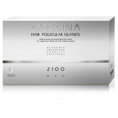 """Crescina Набор 2100 для мужчин Лосьон """"Островки фолликул """"3.5 №20 штук+20 штук против выпадения волос"""