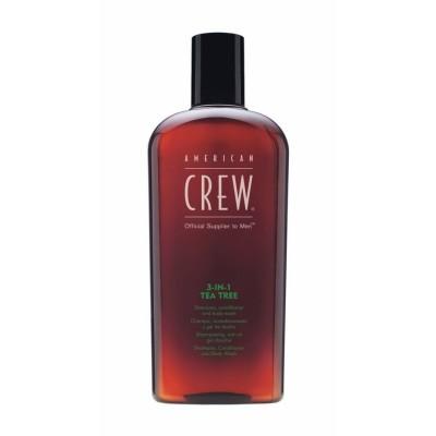 American CREW Шампунь, кондиционер, гель для душа 3-в-1 Чайное дерево 250 мл