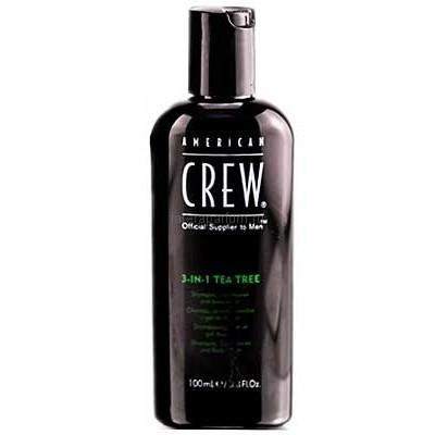 American CREW Шампунь, кондиционер, гель для душа 3-в-1 Чайное дерево 100 мл
