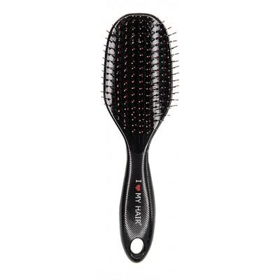 I LOVE MY HAIR Spider Щётка комфортное расчёсывание, черная  L