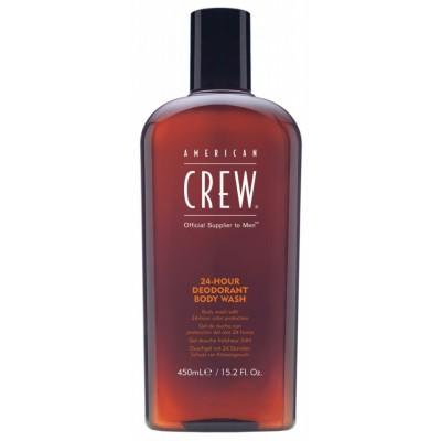 American CREW Deodorant Body Wash Гель для душа дезодорирующий 24-Hour 450 мл