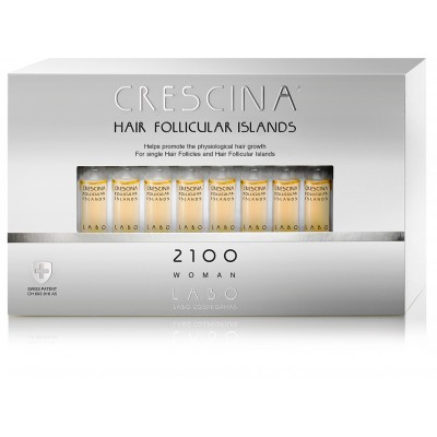 """Crescina 2100 для женщин Лосьон для стимуляции роста волос """"Островки фолликул """" 3.5 №40 штук"""
