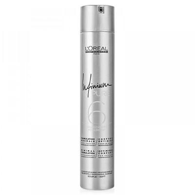 Loreal Infinium Pure Лак средней-легкой фиксации без запаха и отдушек 300 мл Soft