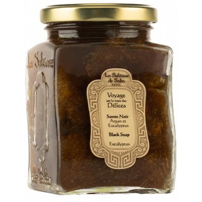 La Sultane de Saba Vetitable Savon Noir Eucalyptus Мыло черное с Эвкалиптом для лица и тела 300 мл