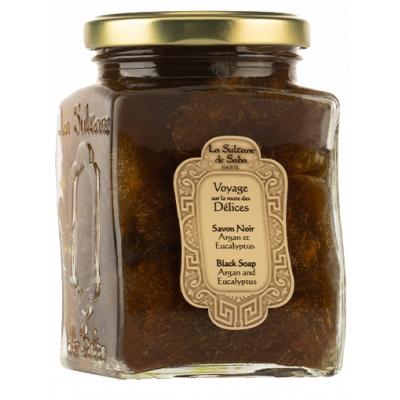 La Sultane de Saba Savon Noir Argan/Eucalyptus Мыло черное с эвкалиптом и маслом арганы для лица и тела 300 мл
