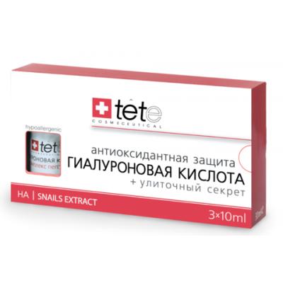 tete Лосьон гиалуроновая кислота+Улиточный секрет 30мл (3*10мл) Hyaluronic Acid&Snails Extract