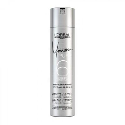 L'Oreal Infinium Pure Лак экстра-сильной фиксации без запаха и отдушек 75 мл Extra-Strong