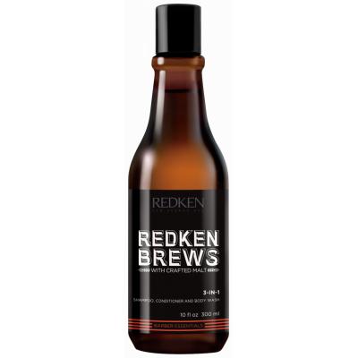 REDKEN Brews  3-в-1  Шампунь, кондиционер, гель для душа Brews 300 мл
