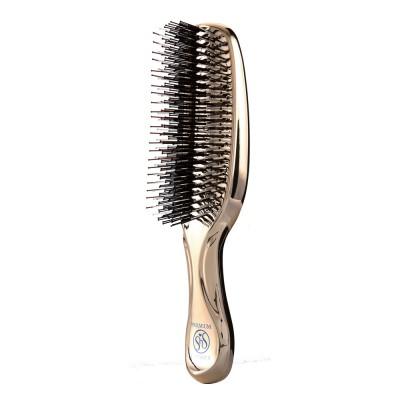 Щётка S-Heart-S Scalp Brush Premium удлиненная (золото-шампань)
