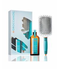 Moroccanoil Набор Щетка-лопата + масло для тонких волос 100 мл
